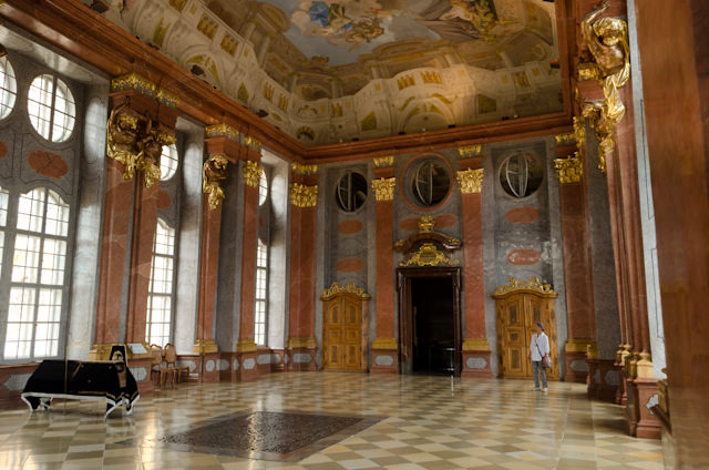 The gorgeous Marble Hall in Melk Abbey. Photo © 2014 Aaron Saunders