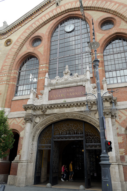Budapest's Great Market Hall on Vamhaz Korut was unfortunately closed, owing to it being Sunday. Photo © 2014 Aaron Saunders