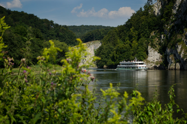 After 90 minutes at the Abbey, we made the short walk to a small ferry terminal for a scenic cruise to Kelheim through the Danube Gorge. Photo © 2014 Aaron Saunders