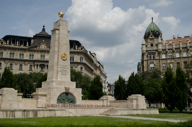 Budapest is lined with surprising squares and monuments that seemingly pop out of nowhere. Photo © 2014 Aaron Saunders