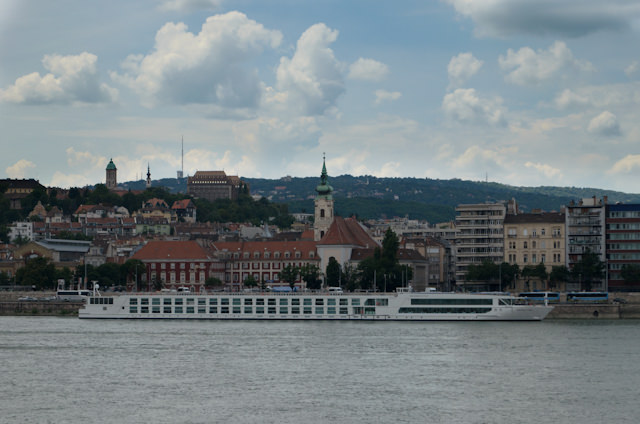 Emerald Waterways' new Emerald Star docked in Budapest, as seen from the Hungarian Parliament. Photo © 2014 Aaron Saunders
