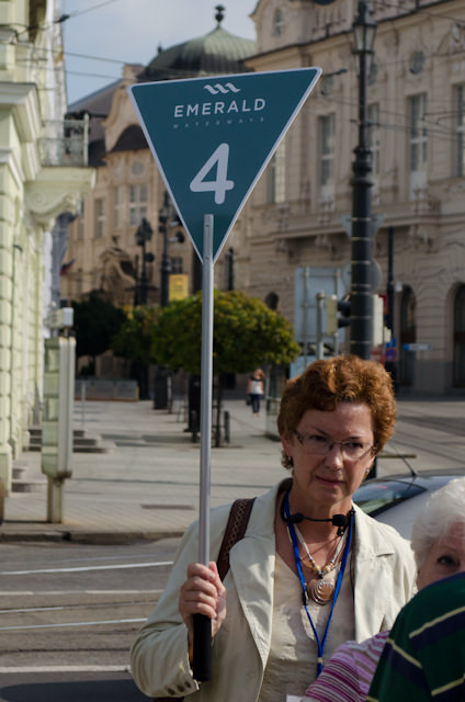Our local guide took us on a fantastic walking tour through the heart of Bratislava before turning us loose on the town for some free time. Photo © 2014 Aaron Saunders