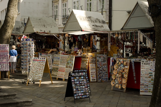 Market stalls sprang up in the late morning. Photo © 2014 Aaron Saunders