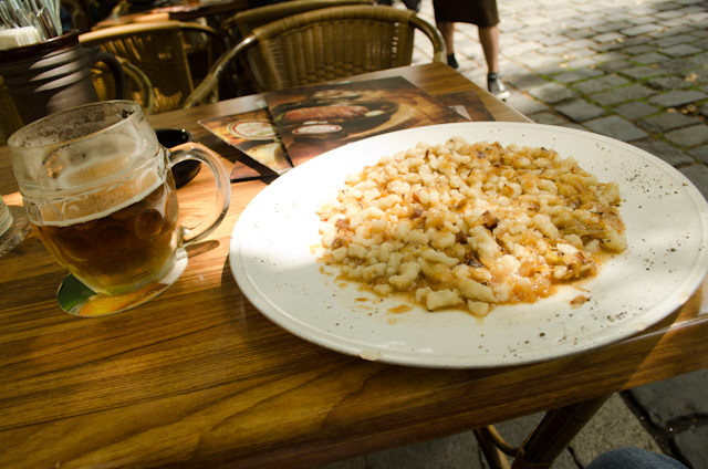 Traditional Hungarian Lunch - and all under six Euros! Photo © 2014 Aaron Saunders