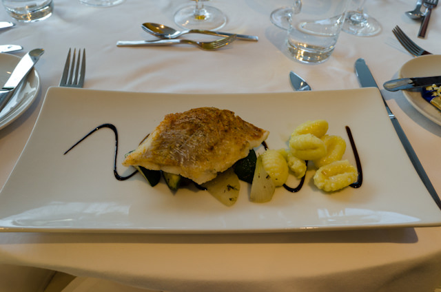 Tonight, I had the fillet of Cod with potato gnocchi. Photo © 2014 Aaron Saunders