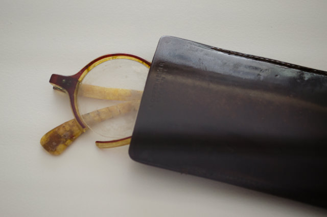 Freud's eyeglasses. With the exception of a few artifacts, most of Freud's possessions went with him to London in 1938 when he fled Austria.