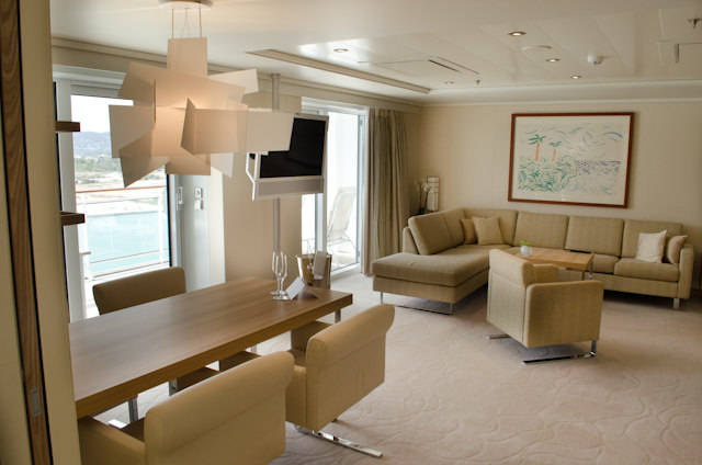 Welcome to Owner's Suite 1001, Starboard Side, forward. Photo © 2014 Aaron Saunders