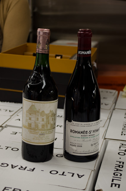 The two most expensive bottles of wine onboard - nearly 1000 Euros apiece. Photo © 2014 Aaron Saunders