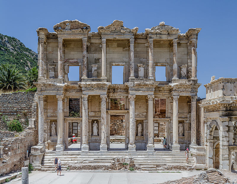 Our journey comes to an end in Kusadasi, Turkey - home to the nearby ruins of Ephesus. The ancient Library of Celsus is pictured here. Photo courtesy of Wikipedia / Creative Commons