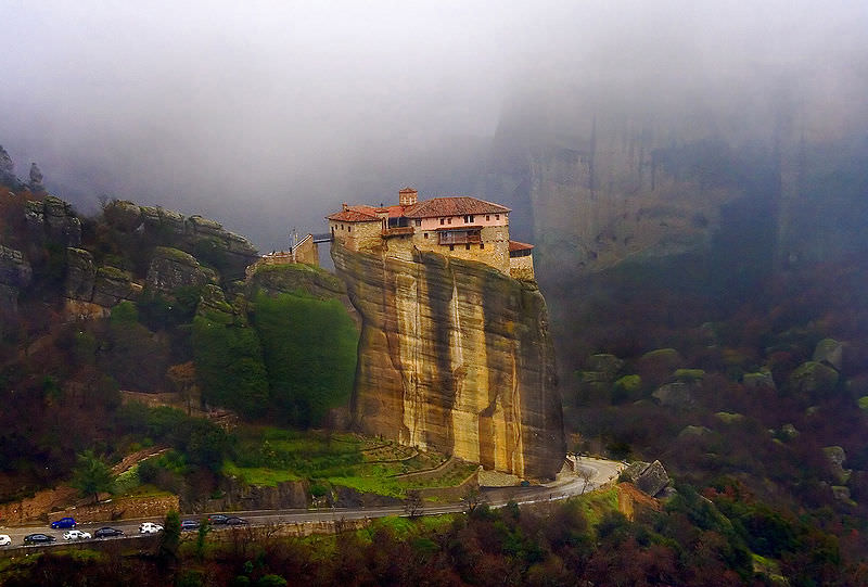 Guests can take an optional excursion to the Monasteries of Meteora, Greece. Photo courtesy of Wikipedia
