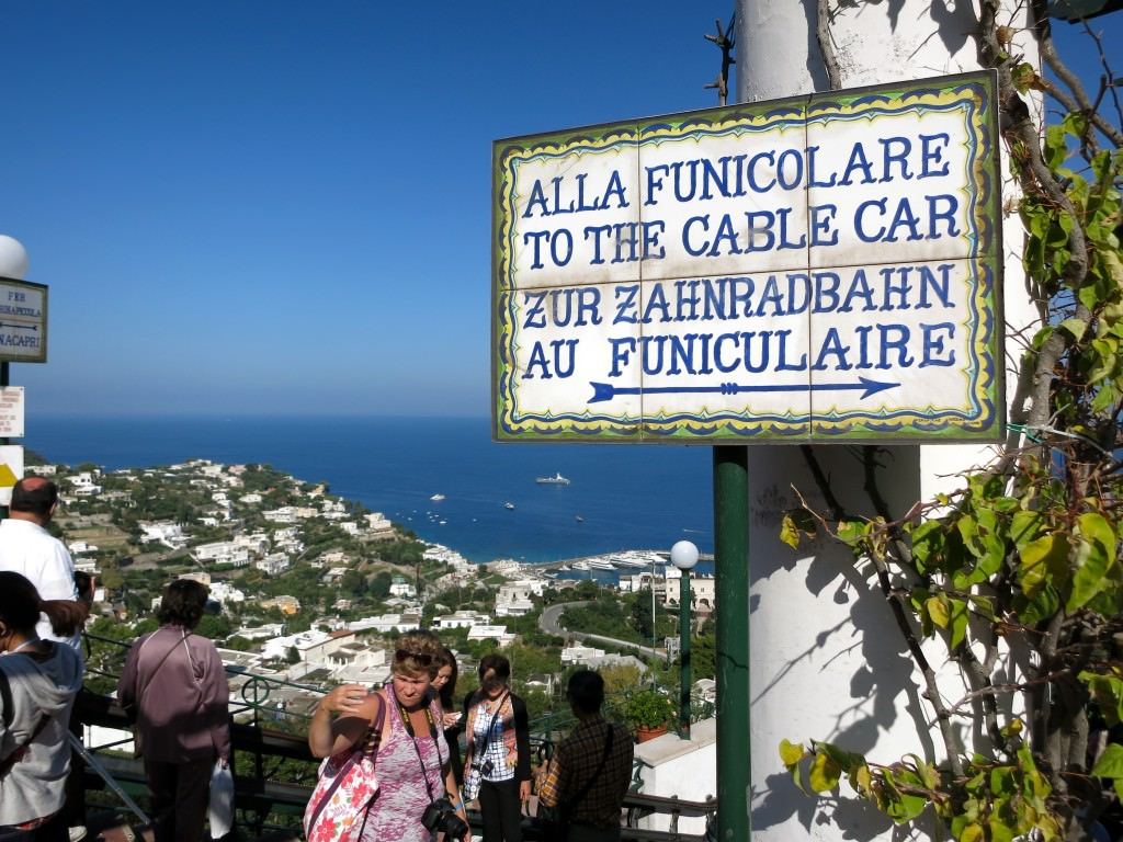 Every sign street and directional sign on Capri is charming hand-painted tile. Of course it is. Oh, Italy. © 2014 Gail Jessen
