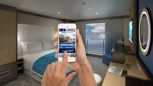 Like your iPhone? Good. You're going to see a whole lot of it on your cruise vacation aboard Quantum of the Seas. Illustration courtesy of Royal Caribbean.