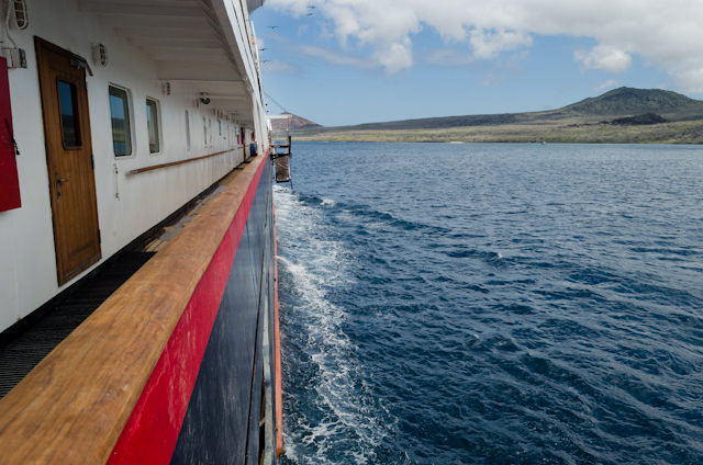 Sailing to Punta Cormorant, Floreana, this afternoon. Photo © 2014 Aaron Saunders