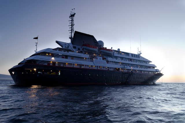 Returning to Silver Galapagos late this evening. Photo © 2014 Aaron Saunders