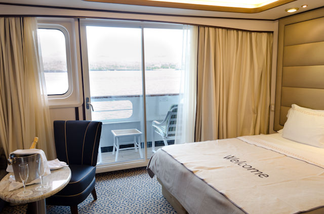 Silversea had it replaced. Every suite aboard Silver Galapagos has this elegant new treatment. Photo © 2014 Aaron Saunders