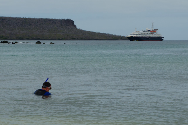 ...while others take the opportunity to snorkel...Photo © 2014 Aaron Saunders