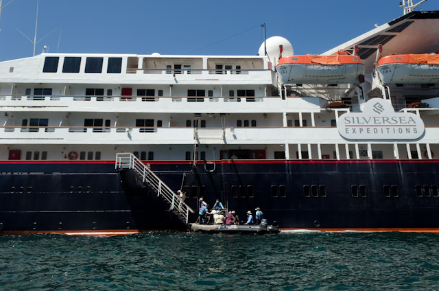 Arriving back onboard Silver Galapagos...Photo © 2014 Aaron Saunders