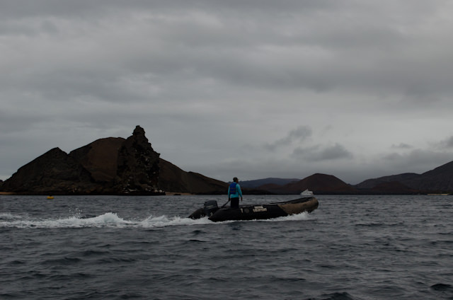 This morning, guests aboard Silver Galapagos set out for an early morning hike, departing the ship at 6:30 a.m. Photo © 2014 Aaron Saunders