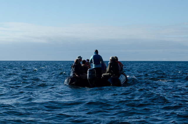 Setting out on a modern-day exploration. In every sense, Silversea Expedition voyages are just about as close as you can get to being a true adventurer without relinquishing your creature comforts! Photo © 2014 Aaron Saunders