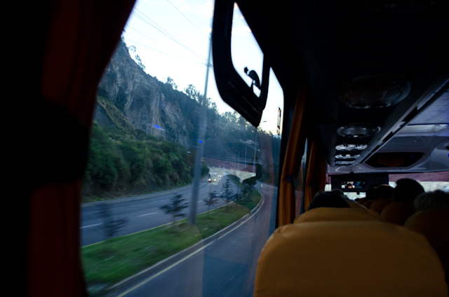 En-route to Quito Mariscal Sucre airport this morning at 5:45 a.m. Photo © 2014 Aaron Saunders