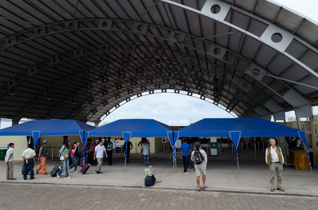 Welcome to San Cristobal! Yes, this is actually the airport. No, I'm not joking. Photo © 2014 Aaron Saunders