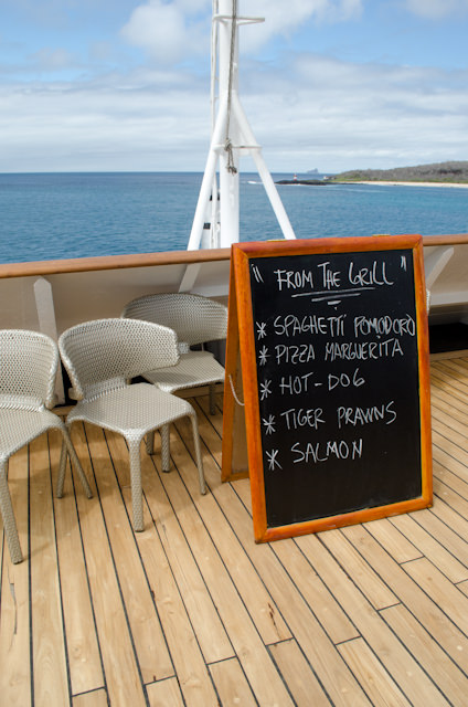 Grill Specials aft on Deck 5 at...Photo © 2014 Aaron Saunders