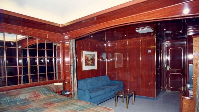 Renaissance Cruises' earlier ships were known for their dark wood panelling. Aaron Saunders Collection