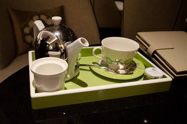 The presentation for those ordering tea is equally striking. Photo © 2014 Aaron Saunders
