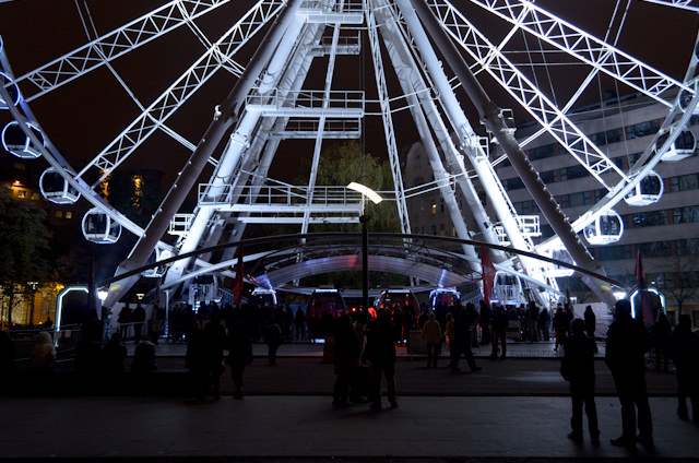You can also take a spin on the Budapest Eye, a ferris wheel that was just opened this past May. It stands as tall as Viking Baldur is long. Photo © 2014 Aaron Saunders