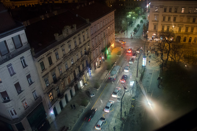 The view from halfway up the Budapest Eye. Photo © 2014 Aaron Saunders