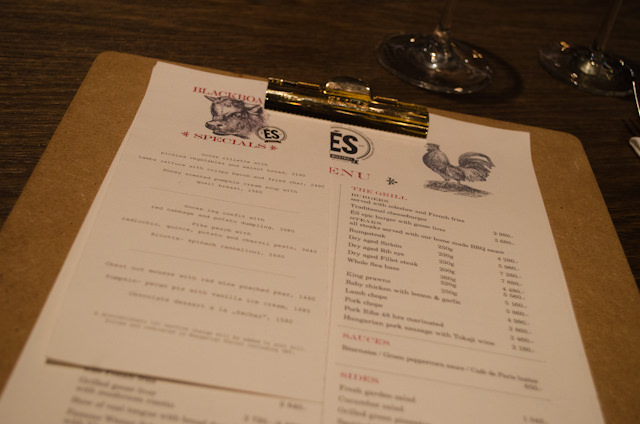Everything here appealed to me, from the clipboard-designed menus... Photo © 2014 Aaron Saunders