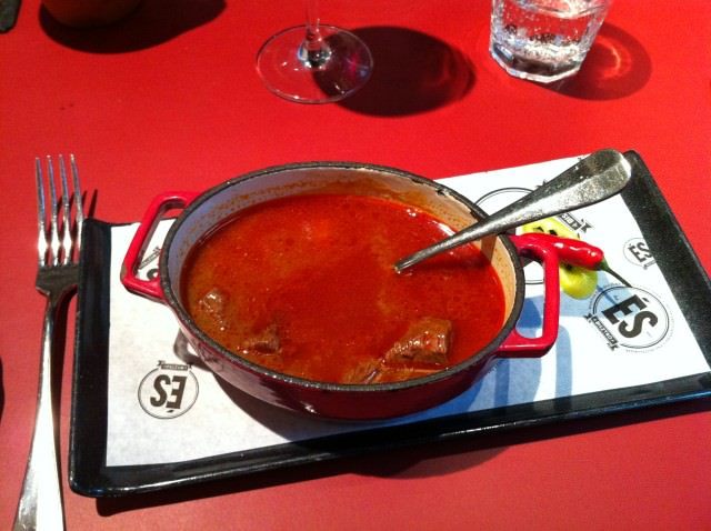 More ways to warm up: Goulash soup at ES Bisztro... Photo © 2014 Aaron Saunders