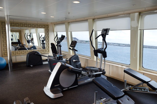 The Fitness Center aboard Silver Galapagos. Photo © 2014 Aaron Saunders