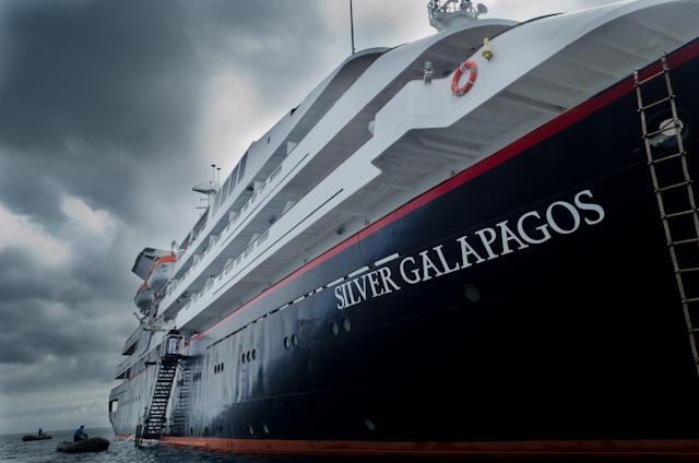 For her small size, Silver Galapagos has many wonderful ocean-liner-esque qualities to her. Photo © 2014 Aaron Saunders