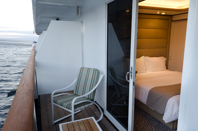 Deluxe Veranda suites include a private, 68-square foot balcony. Photo © 2014 Aaron Saunders