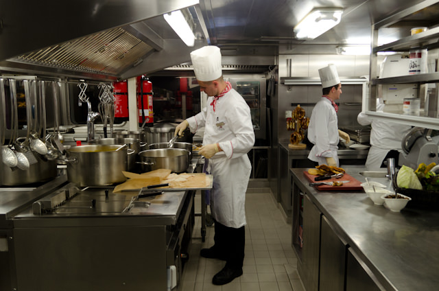 Tonight's Austrian Feast included specialties served straight from Viking Baldur's galley. Photo © 2014 Aaron Saunders