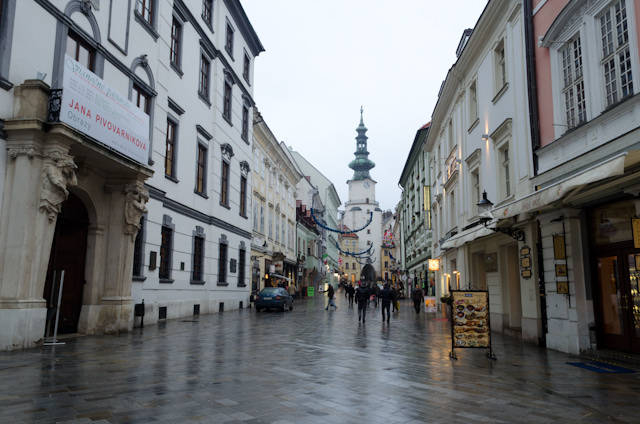 Unlike the busy summer months, Bratislava in winter is positively deserted. Photo © 2014 Aaron Saunders