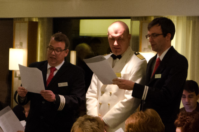 Crew and guests alike sing carols onboard Viking Baldur. Photo © 2014 Aaron Saunders