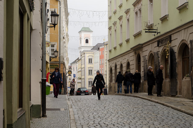 The streets of Passau have changed little over the intervening centuries.