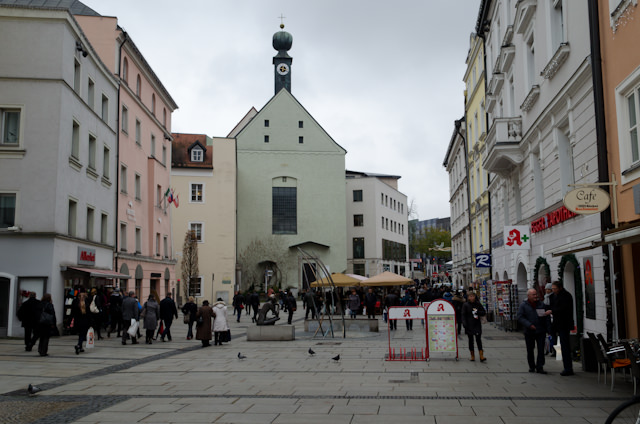 Passau's shopping district. Photo © 2014 Aaron Saunders