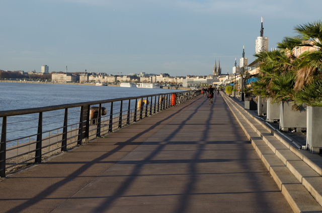 The Bordeaux Promenade is where Viking Forseti docks - and it's great for strolling on. Photo © 2014 Aaron Saunders