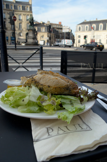 A suitably French lunch - nutritious and under 10 Euros. Photo © 2014 Aaron Saunders