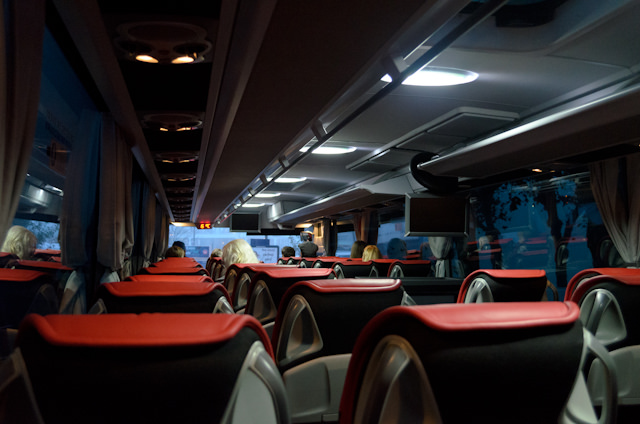 Viking's Mercedes coaches are new and modern, and quite comfortable to travel long distances in. Photo © 2014 Aaron Saunders