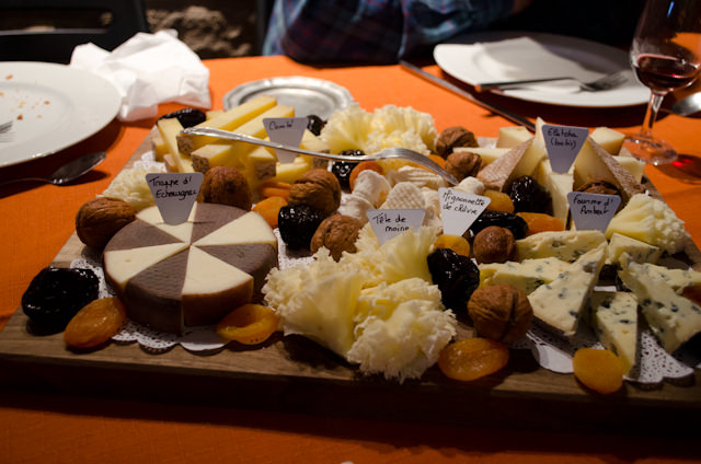 Cheese, anyone? This was just one of several plates. Photo © 2014 Aaron Saunders