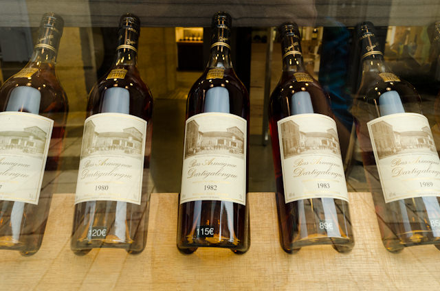 Wine is also a recurring theme in Saint-Emilion, where every other shop sells hundreds of kinds of wine. I hear 1982 was a very good year... ;) Photo © 2014 Aaron Saunders