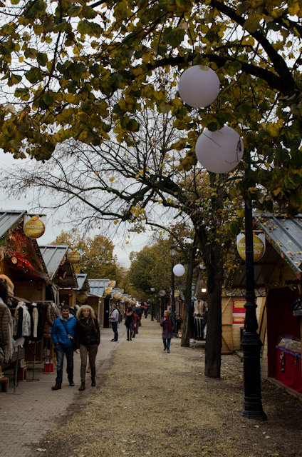 Strolling through the just-opened Christmas Market in Bordeaux. Photo © 2014 Aaron Saunders