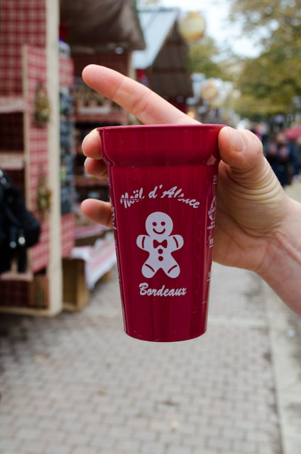 Of course, you have to stop for the mulled wine - vin chaud - in Bordeaux! Photo © 2014 Aaron Saunders