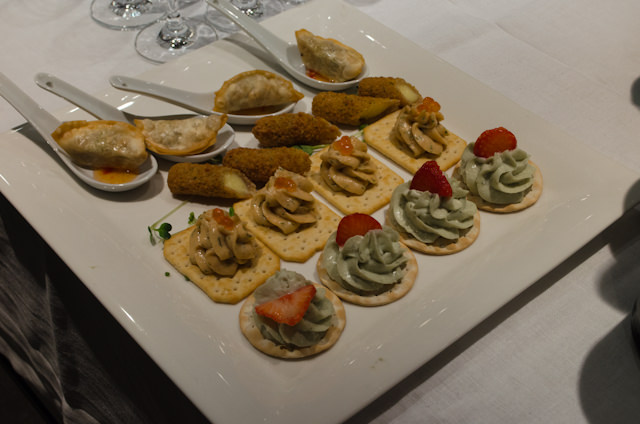 Canapes. Photo © 2014 Aaron Saunders