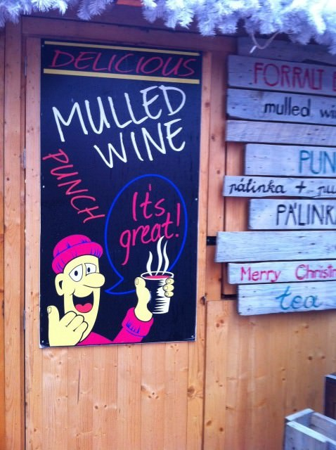 How do you warm up in Budapest on a cold rainy day? Mulled Wine, of course! Photo © 2014 Aaron Saunders