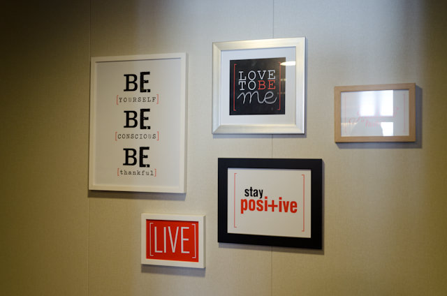 Come along with me! Right outside my stateroom door - some inspirational messages. Photo © 2014 Aaron Saunders